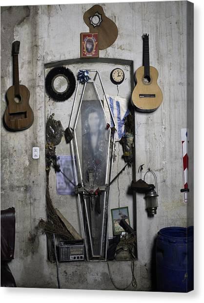 Musical Shrine Inside A Room Canvas Print
