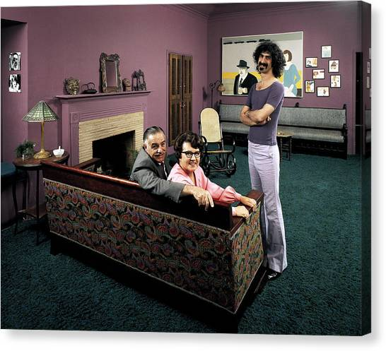 Musician Frank Zappa R W. Parents L-r Canvas Print
