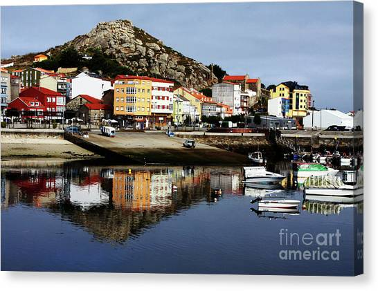 Canvas Print featuring the photograph Muxia Camino Reflections by Rick Locke