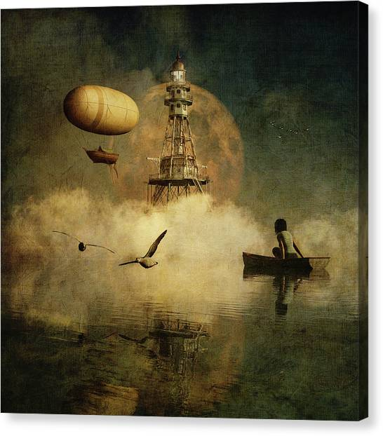 My Dream About The Lighthouse Canvas Print