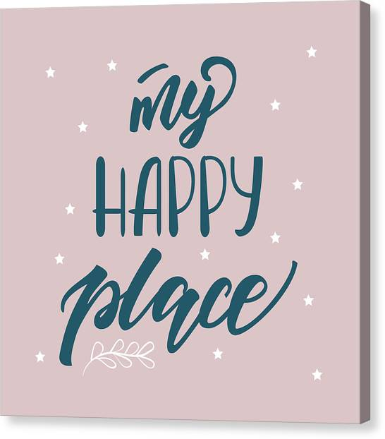 My Happy Place - Baby Room Nursery Art Poster Print Canvas Print