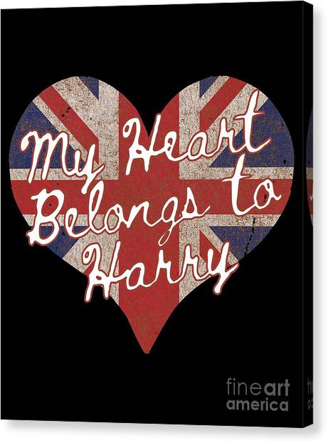 My Heart Belongs To Prince Harry Canvas Print