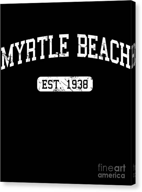 Canvas Print featuring the digital art Myrtle Beach by Flippin Sweet Gear