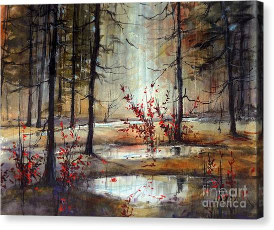 Wild Berries Canvas Print - Mystic Forest by Suzann's Art