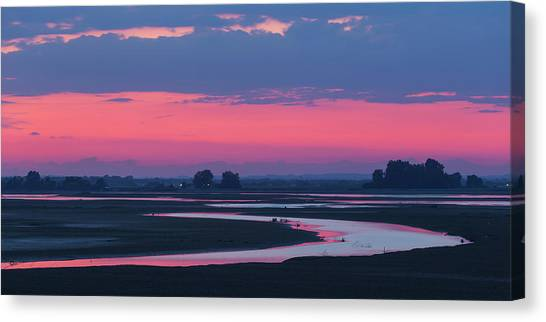 Canvas Print featuring the photograph Mystical River by Davor Zerjav
