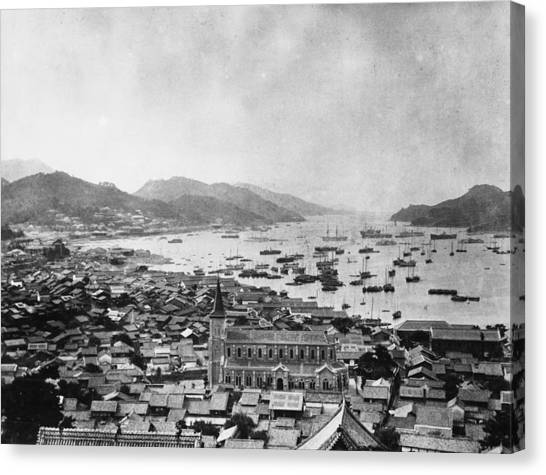 Nagasaki Harbour Canvas Print by Topical Press Agency