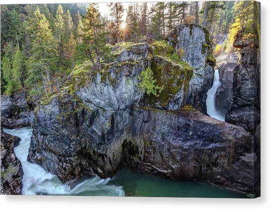 Canvas Print featuring the photograph Nairn Falls Of Pemberton, Bc by Pierre Leclerc Photography