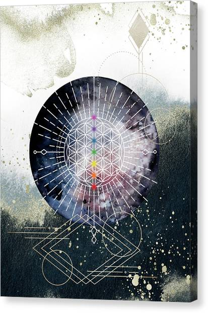 Canvas Print featuring the digital art Namaste by Bee-Bee Deigner