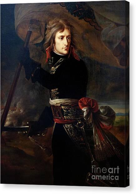 State Hermitage Canvas Print - Napoleon Bonaparte On The Bridge At Arcole by Peter Barritt
