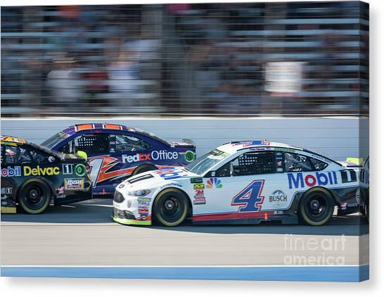 Stewart-haas Racing Canvas Print - Nascar Traffic by Paul Quinn