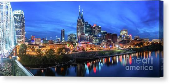 Nashville Night Canvas Print