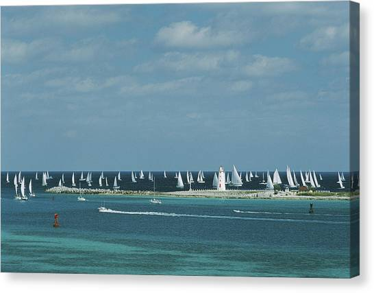 Nassau Sailing Canvas Print
