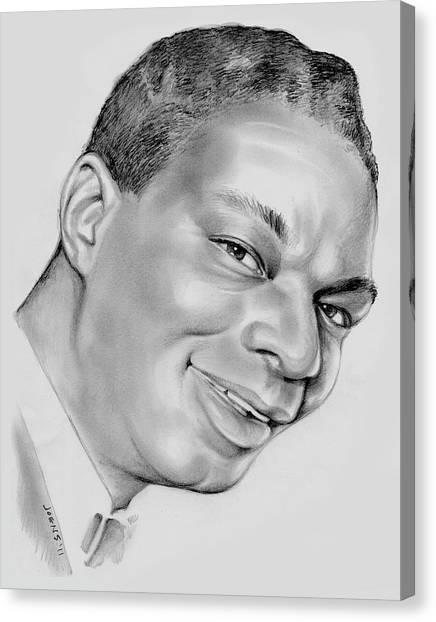 Pencil Art Canvas Print - Nat King Cole by Greg Joens