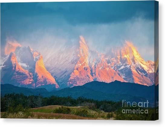 National Park Torres Del Paine In Canvas Print by Kavram