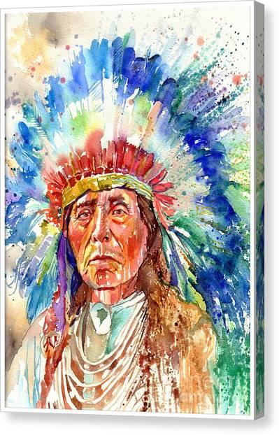 Alabama Canvas Print - Native American Chief by Suzann Sines