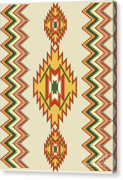Native American Rug Canvas Print