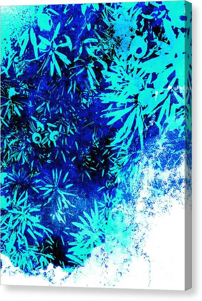 Canvas Print featuring the digital art Nature 11018 by Ron Labryzz