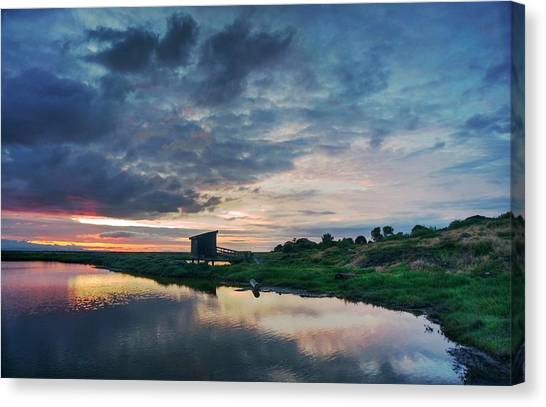 Canvas Print featuring the photograph Nature Spectacle In Alviso by Quality HDR Photography