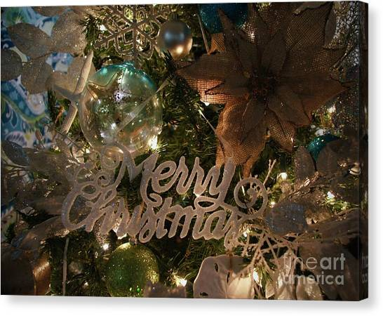 Canvas Print - Nautical Christmas by Megan Cohen