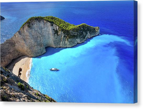 Navagio Beach, Zakynthos Island, Greece Canvas Print