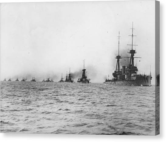 Naval Review Canvas Print by Hulton Archive