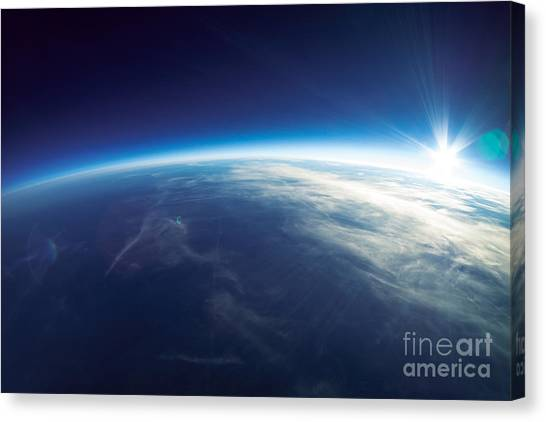 Atmosphere Canvas Print - Near Space Photography - 20km Above by Im photo