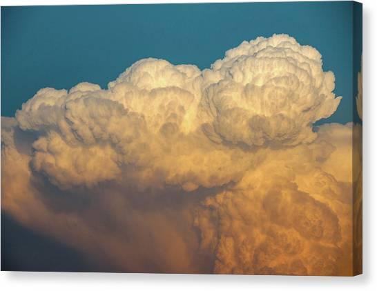 Nebraska Sunset Thunderheads 053 Canvas Print