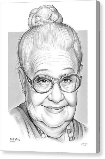 Grandma Canvas Print - Nedra Volz by Greg Joens