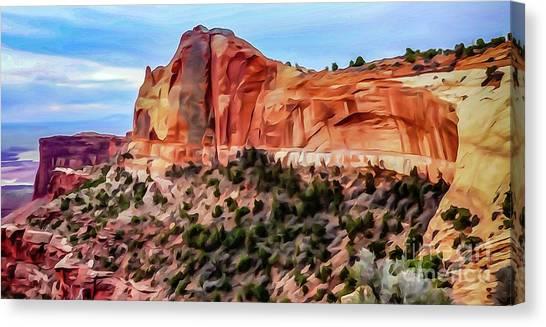 Neighboring Mesa Arch - Photopainting Canvas Print by Bob Lentz