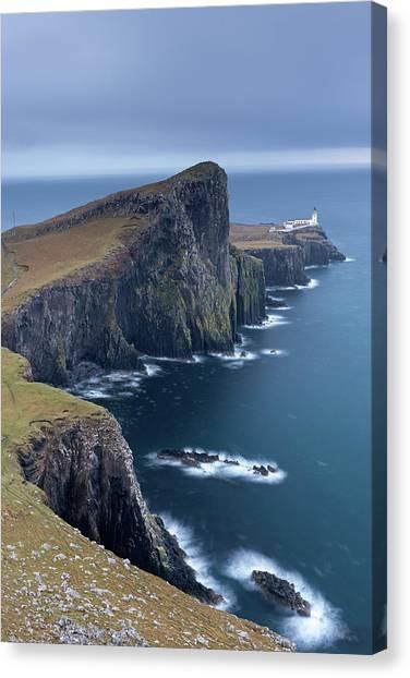 Cliff Burton Canvas Print - Neist Point Lighthouse, The Most by Adam Burton / Robertharding