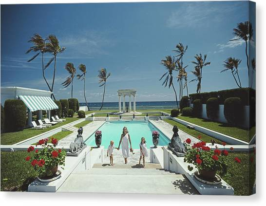Neo-classical Pool Canvas Print