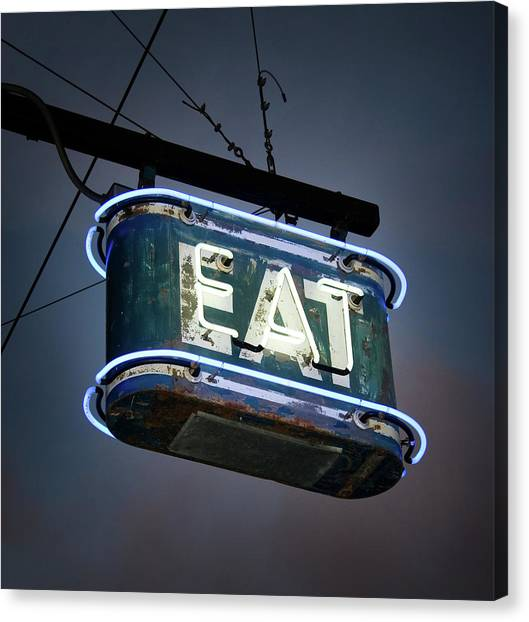 Neon Eat Sign Canvas Print