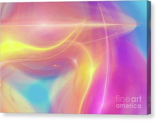 Neon Light  Cosmic Rays Canvas Print