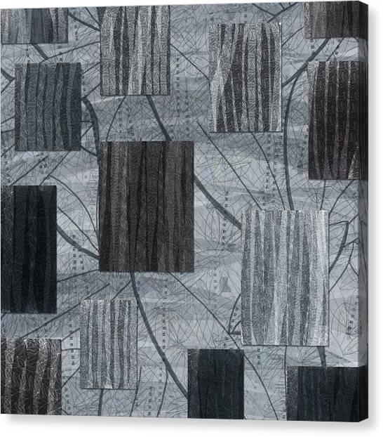 Neutral Toned Leaf Square Print Canvas Print