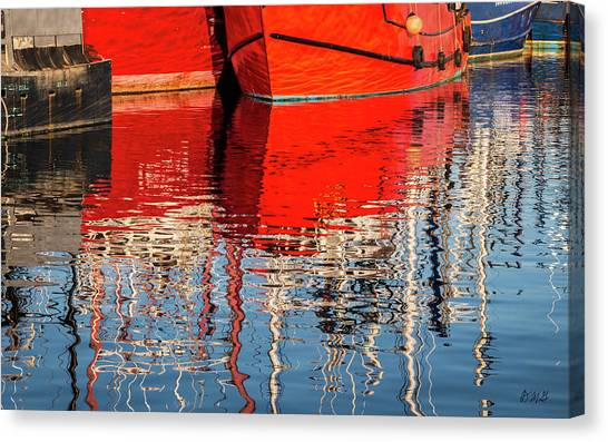 Canvas Print featuring the photograph New Bedford Waterfront Xxxi Color by David Gordon