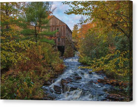 Canvas Print featuring the photograph New England Fall Foliage At Moore State Park by Juergen Roth