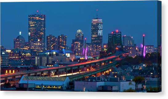 New England Patriots - Boston Skyline Canvas Print