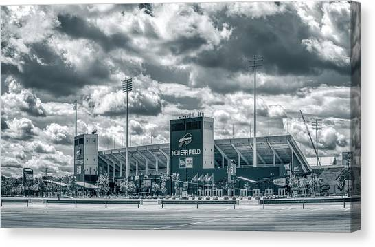 Canvas Print featuring the photograph New Era Stadium by Guy Whiteley