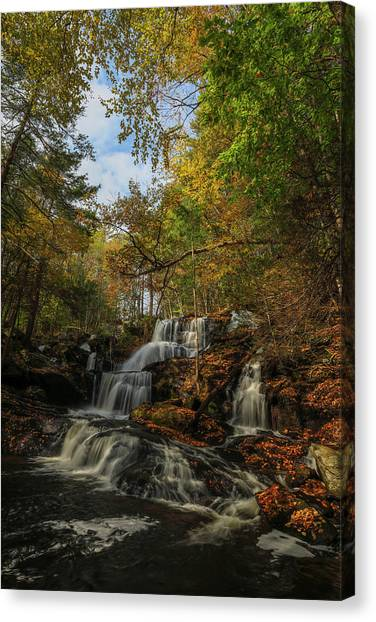 Canvas Print featuring the photograph New Hampshire Garwin Waterfall by Juergen Roth