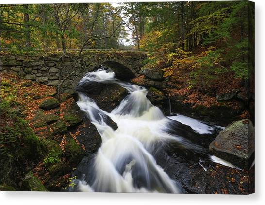 Canvas Print featuring the photograph New Hampshire Gleason Falls by Juergen Roth