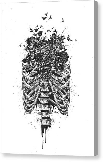 Skeletons Canvas Print - New Life by Balazs Solti