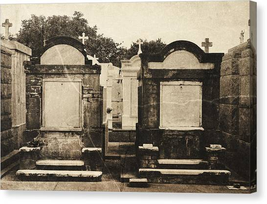 New Orleans Cemetery, Vintage Style Canvas Print