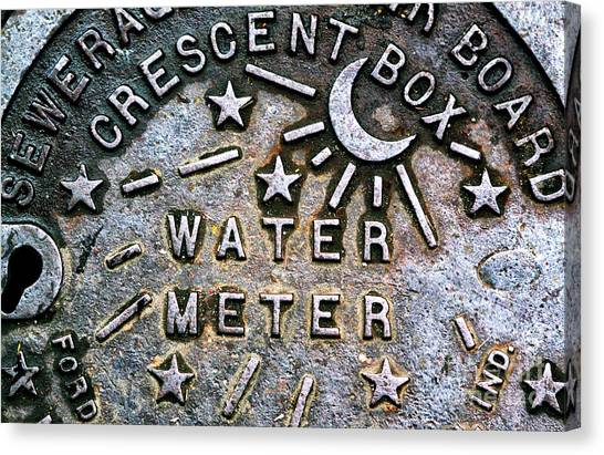 New Orleans Water Meter Cover Canvas Print