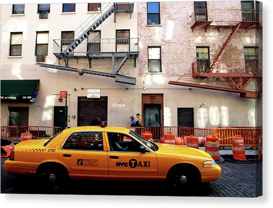 New York, Cab Canvas Print