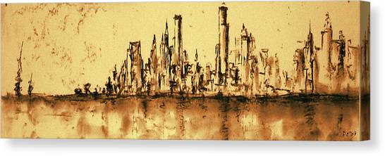 New York City Skyline 79 - Water Color Drawing Canvas Print