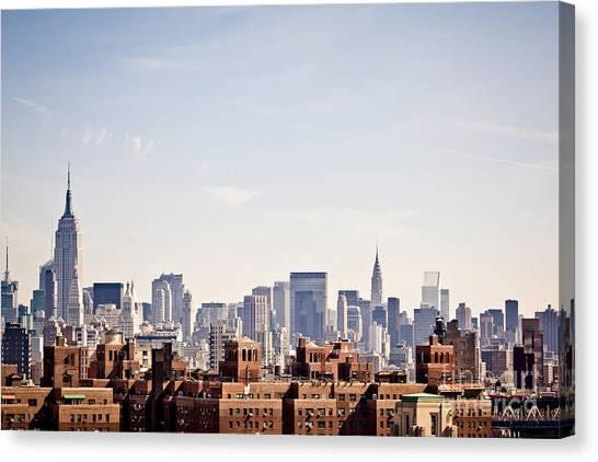 Urban Life Canvas Print - New York City Skyline Taken From by Andrey Bayda