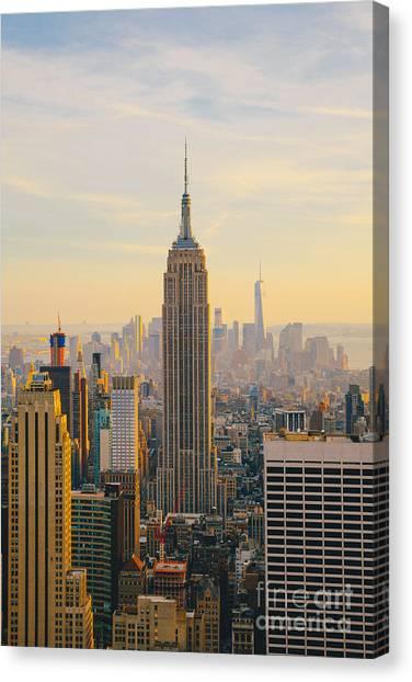 New York City Skyline With Urban Canvas Print by Irina Kosareva