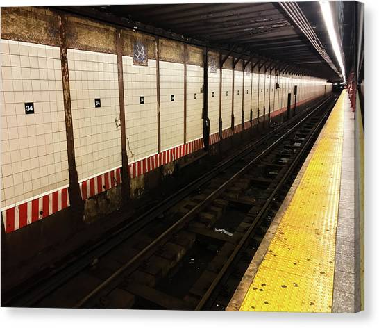 New York City Subway Line Canvas Print