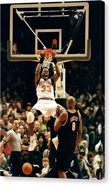 New York Knicks Patrick Ewing Does A Canvas Print