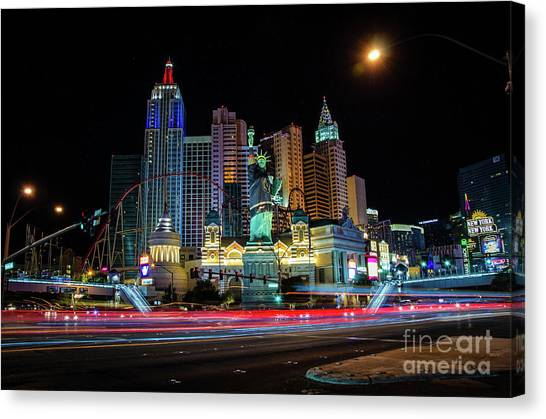Vegas Golden Knights Canvas Print - New York, Nv by Rjd Photography